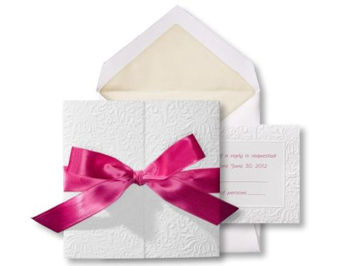 Make your own wedding invitations with this kit (in different colours) from 1st Class