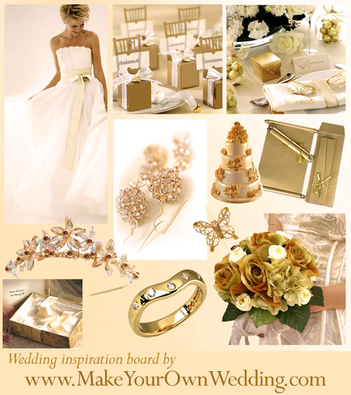 Brand new wedding inspiration in lovely gold go to www