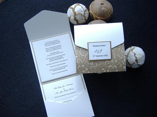 How Do You Make Your Own Wedding Invitations: Pocketfold Wedding Invitations